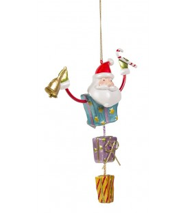Santa Hanger with Gift Boxes - 15cm