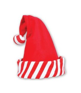 HAT SANTA STRIPY RED/WH