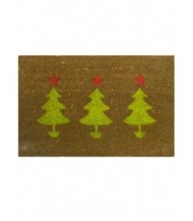 Door Mat - 3 Christmas Trees