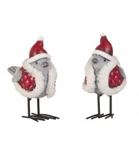 Santa Birds with Hats - Ceramic -EA