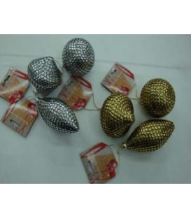 Assorted Metallic Tree Decorations - Silver or Gold