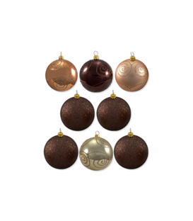 Chocolate Baubles - 77mm Dia.