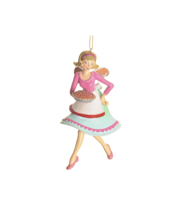 Hanging Ornament - Angel with Tart