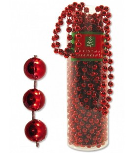 Bead Garland - Red Metallic - 10M
