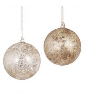 Bauble Elysees 6inc / 16cm Natural