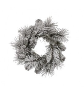 Wreath Aspen Pine 12inc / 30cm White/Green