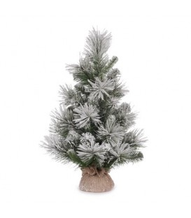 Tree Aspen Pine 61 cm w/Burlap Sack White/Green