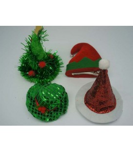 4A MINI CLIP CHRISTMAS HATS EACH