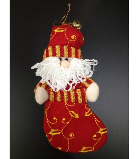 Santa stocking decoration