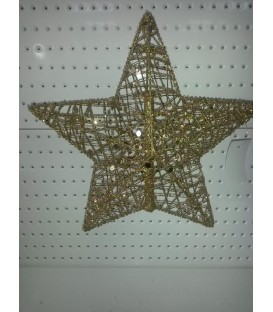 STAR TREE TOP GOLD GLIT 40CM REL