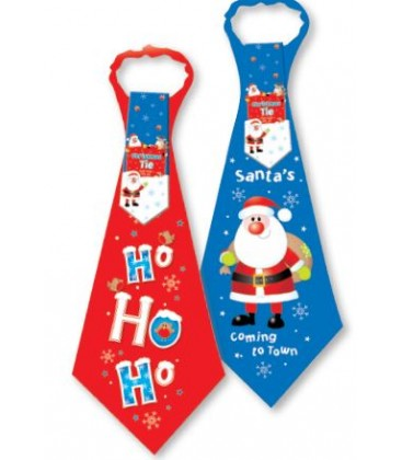 TIE XMAS NOVELTY  RED OR BLUE
