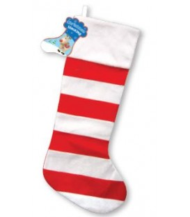 STOCKING STRIPY RED/WHITE