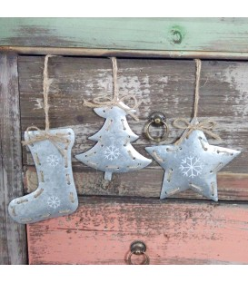 DECO HANG METAL W/RIBBON