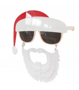 GLASSES SANTA W/BEARD