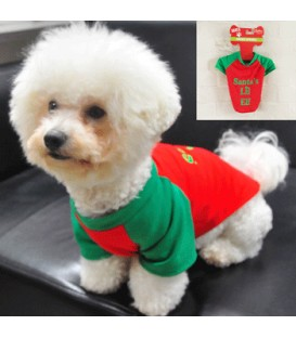 PET ELF RED/GRN COSTUME
