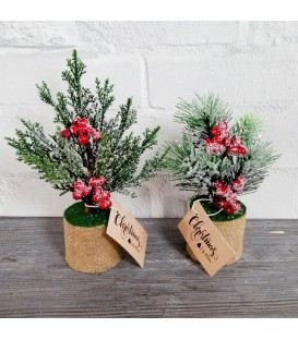 TREE POT HESSION FIR/ BERRY
