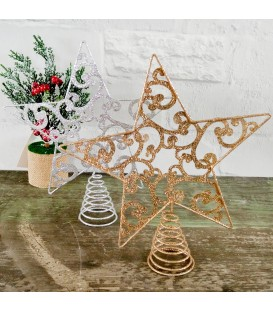 STAR TREE TOPPER FLAT  20CM