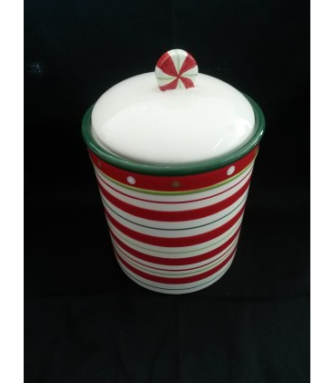 Dining- Candy Stripe Cookie Jar