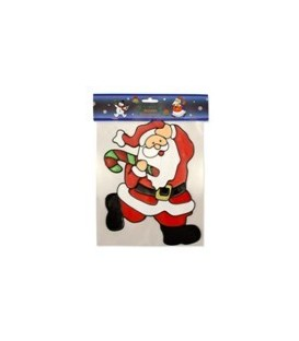 Wall & Window - Santa With Candy Cane - 20cm