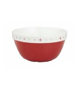 Pudding Bowl - Seasons Eatings 1.8L.Red & Cream.10.7cmH x 19.5cm Dia.