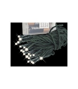 Battery Lights - 15 Cool White Micro LED - Static or Flash - 2.1M - Suitable for indoor use only - 4 x AA Batteries not included
